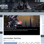 Premium Wordpress Theme Dangerous Games