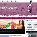 Premium Wordpress Theme Purple Beauty