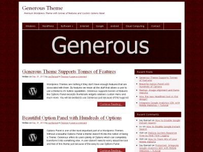 generous-wordpres-theme