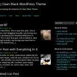 Wordpress Premium Theme Clean Black