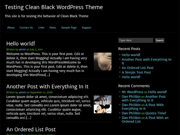 wordpress-clean-black
