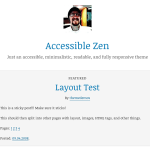Premium WordPress Theme Accessible Zen