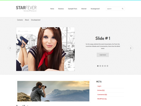StarFever-model-wordpress-theme