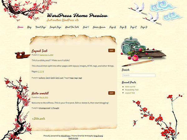 oriental-writing-blog-wordpress-theme